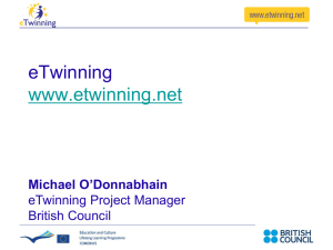 eTwinning presentation London schools