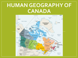 Human Geography of Canada