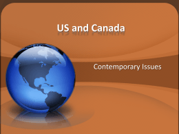 Contemporary US and Canada