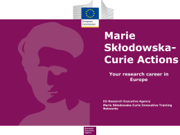 What are the Marie Skłodowska Curie Actions?