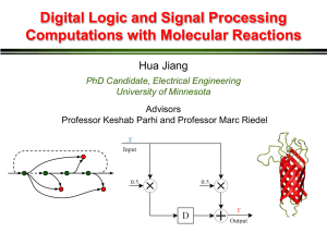 Molecular Reactions - The Circuits and Biology Lab at UMN
