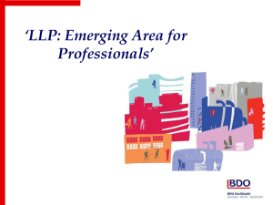 Presentation on LLP by