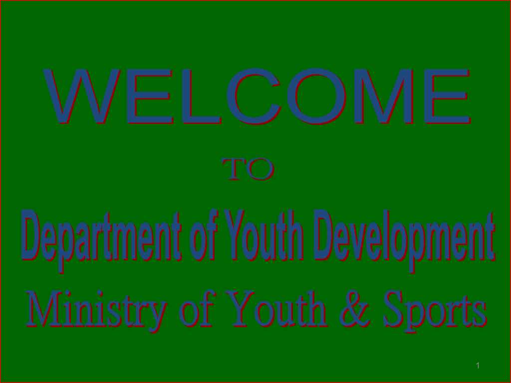 1  Skill Development Training On-going Programmes of DYD