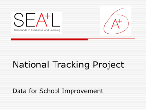 National Tracking Project Data for School Improvement