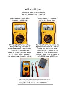 Multimeter Directions