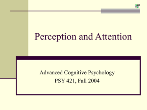 Perception and Attention - Lecture 5