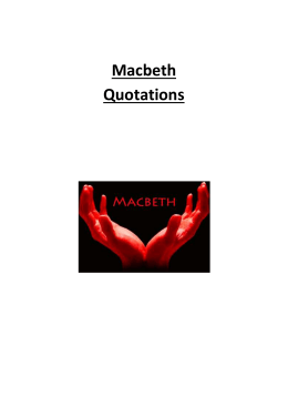 blood imagery in macbeth essay