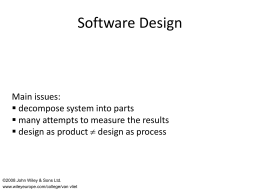 Software Design - CSE,Dhaka City College