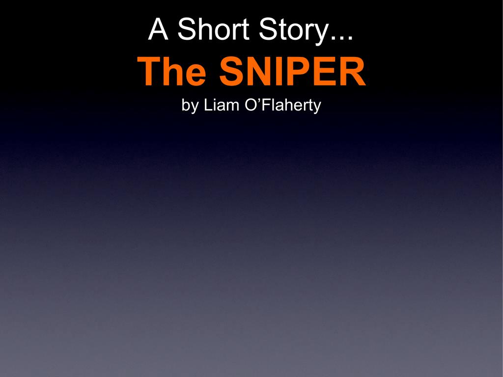 the sniper essay topics