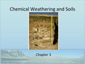 Chemical Weathering and Soils