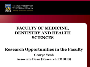 PG Expo FMDHS 2012  - Faculty of Medicine, Dentistry