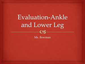 Ankle Guided Notes
