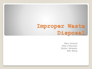 Improper Waste Disposal