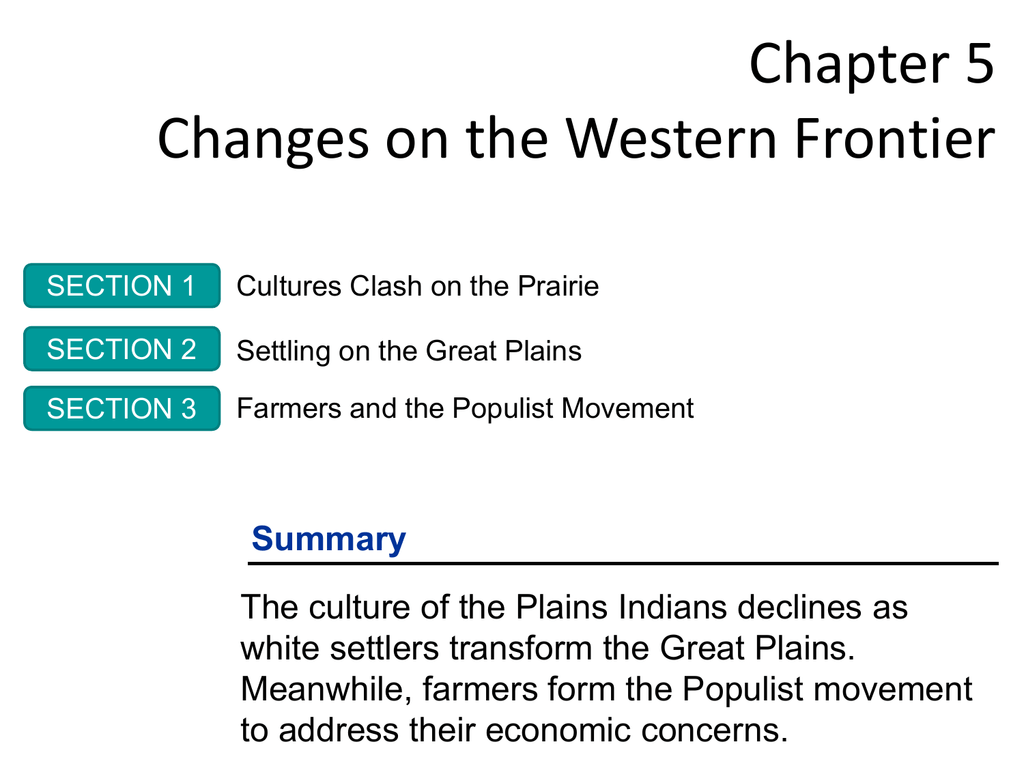 Chapter 5 Changes on the Western Frontier