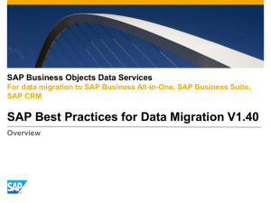 SAP BP for Data Migration v1.40