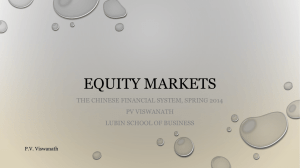 Chinese financial markets - Pace University Webspace