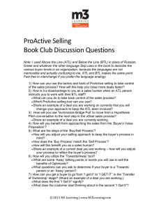 ProActive Selling Book Club Discussion Questions Note: I used