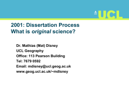 PPT file - UCL Department of Geography