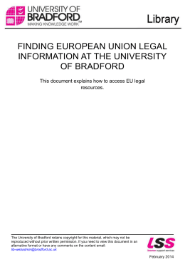 Finding European Union Legal Information