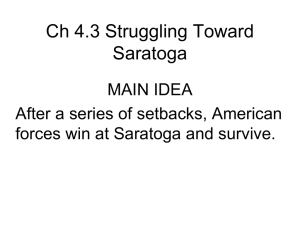 Ch 43 Struggling Toward Saratoga