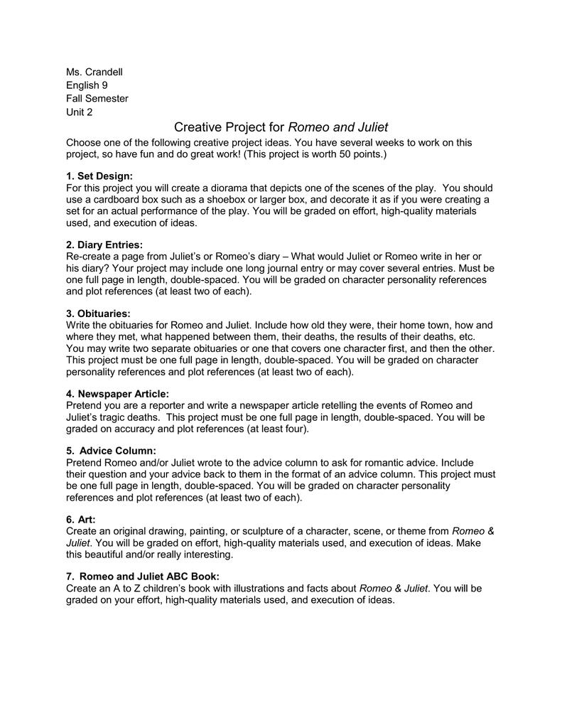 romeo diary entry essay for high school