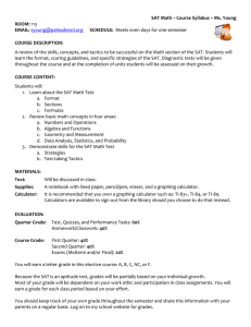 SAT Math Prep Syllabus - Palisades School District