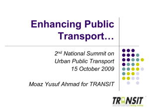 National Summit on Urban Public Transport 2