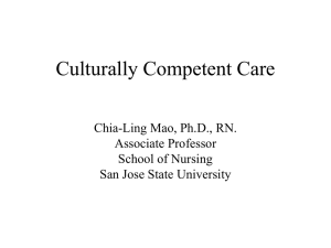 Culturally Competent Care - San Jose State University