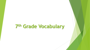 Vocabulary Words Slideshow