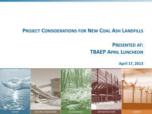 Project Considerations for New Coal Ash Landfills