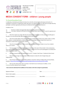 MEDIA CONSENT FORM – children / young people