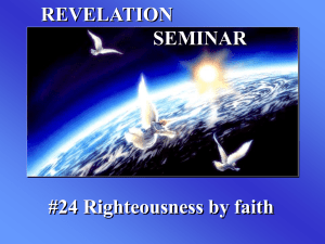 24--Righteousness by faith