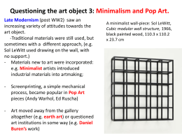 QUESTIONING THE ART OBJECT 3