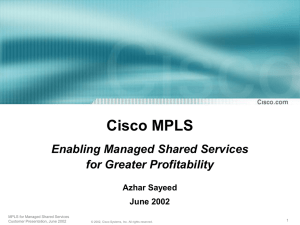 MPLS for Managed Shared Services