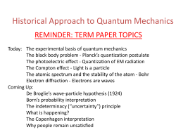 Historical Approach to Quantum Mechanics