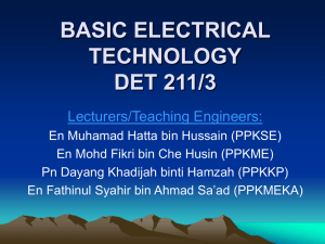 BASIC ELECTRICAL TECHNOLOGY DET 211/3