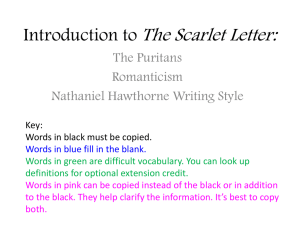 Introduction to The Scarlet Letter Powerpoint