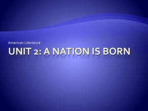 Unit 2: A Nation is born