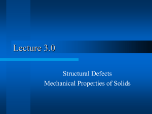 Lecture3.0 Defects and Solid Mechanics