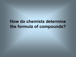 How do chemists determine the formula of