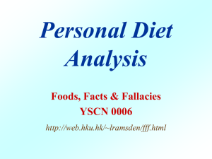 Diet Analysis