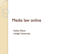 Media law for bloggers