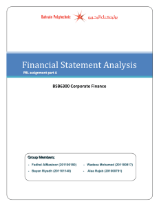 4) BSB6300 Corporate finance group assignment