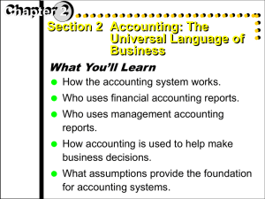 Accounting Chapter 2 Section 2
