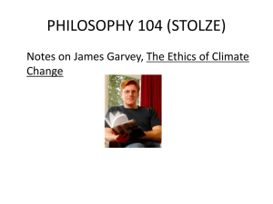 Notes on James Garvey, The Ethics of Climate Change