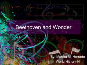 Beethoven and Wonder