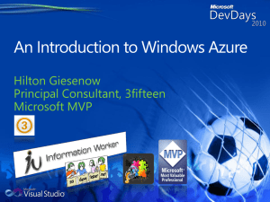 An Introduction to Windows Azure Slides