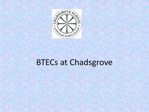 BTEC at Chadsgrove