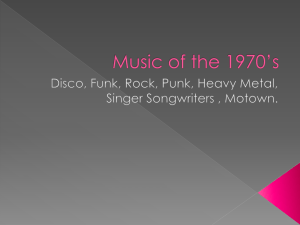 Music of the 1970*s