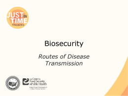 Biosecurity_Routes of Disease Transmission